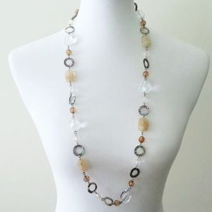 "Lia Sophia ""Amber Dawn"" Abalone + Quartz Necklace"